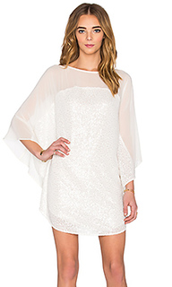 Мини платье с прямой горловиной elbow sleeve - Halston Heritage