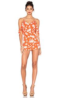 Цветочное платье с v-образным вырезом и открытыми плечами - J.O.A.