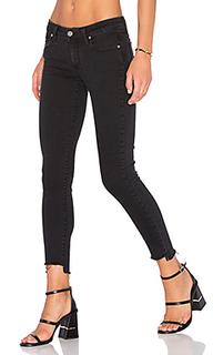 Узкие джинсы с асимметричным низом verdugo - PAIGE