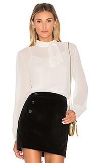 Прозрачная шелковая блуза с завязкой anissa - Greylin