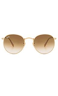 Солнцезащитные очки с круглой металлической оправой - Ray-Ban