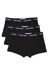 Набор из 3 стрейчевый хлопковых трусов низкой посадки - Calvin Klein Underwear