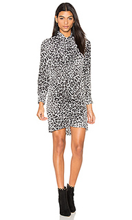 Платье с леопардовым принтом и завязкой на шее leema - Equipment