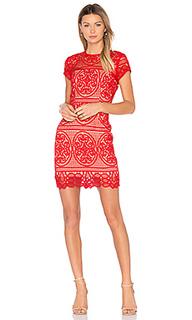 Мини платье с вышивкой blackjack - aijek