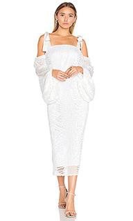 Миди платье с драпированными рукавами pulitzer - Rebecca Vallance
