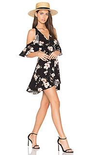 Мини платье с вырезами на плечах - J.O.A.