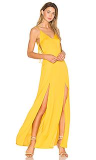 Макси платье с глубоким вырезом gina - Capulet