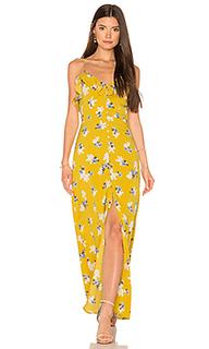 Макси платье с цветочным принтом на пуговицах - J.O.A.