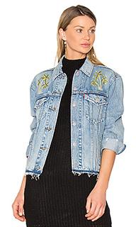 Джинсовая куртка с вышивкой palm - LEVIS