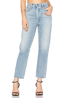 Прямые укороченные джинсы с высокой талией riley - AGOLDE