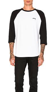 Теплая футболка из джерси с рукавами-реглан - Stussy