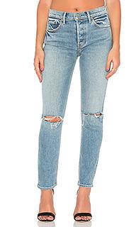Изящные узкие джинсы с высокой талией karolina - GRLFRND