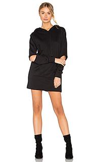 Платье-свитшот с капюшоном - LNA
