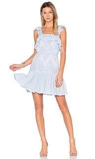 Мини платье с расклёшенными рукавами maria - aijek