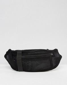 Сетчатая сумка кошелек на пояс ASOS LIFESTYLE - Черный
