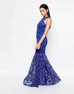Кружевное платье макси Honor Gold - Синий