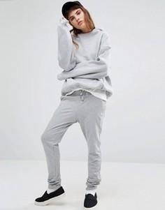 Серые спортивные штаны с логотипом Le Coq Sportif - Серый