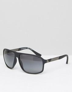 Солнцезащитные очки в квадратной оправе Emporio Armani - Черный