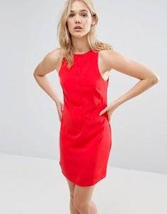 Платье на пуговицах спереди Neon Rose - Красный