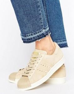 Бежевые кроссовки в стиле 80-х adidas Originals Superstar - Зеленый