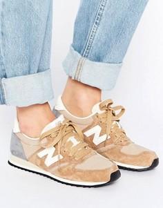 Бежевые кроссовки New Balance 420 - Бежевый