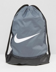 Серый рюкзак с завязкой и логотипом Nike BA5338-064 - Серый