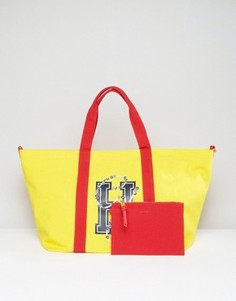 Парусиновая сумка на плечо с логотипом Tommy Hilfiger Gigi Hadid - Желтый