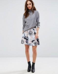 Юбка с цветочным принтом Selected Femme - Мульти