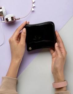 Черный лакированный кошелек для мелочи Mi-Pac - Черный