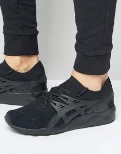 Черные кроссовки Asics Gel-Kayano H705N 9090 - Черный