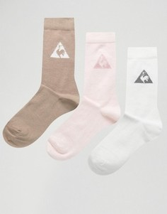 Набор из 3 пар носков нейтральных оттенков Le Coq Sportif эксклюзивно для ASOS - Мульти