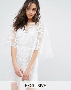Кружевное платье мини Stevie May - Белый