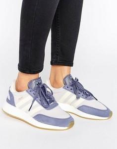 Кроссовки с лиловой отделкой adidas Originals Iniki - Фиолетовый