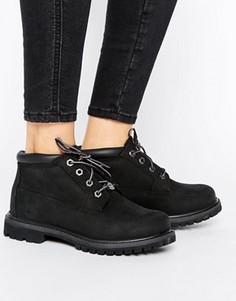 Черные ботинки чукка на шнуровке и плоской подошве Timberland Nellie - Черный