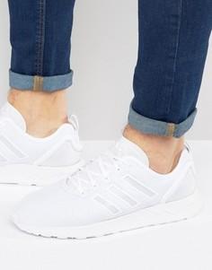 Белые кроссовки adidas Originals ZX FLUX - Белый