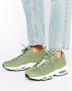 Кроссовки хаки Nike Air Max 95 - Зеленый