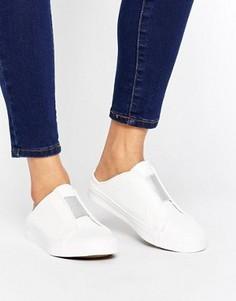 Кроссовки-слипоны цвета металлик New Look - Белый