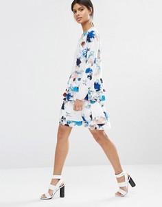 Мини-юбка с принтом Selected Jasmin - Мульти