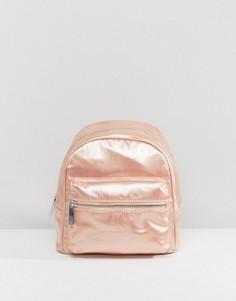 Розовый миниатюрный атласный рюкзак LAMODA - Розовый