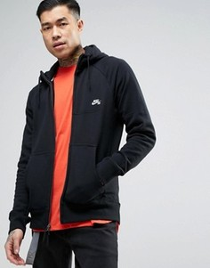 Худи черного цвета на молнии Nike SB Everett 846882-010 - Черный