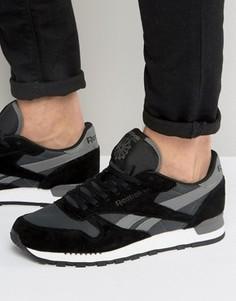Кожаные кроссовки Reebok Classic Clip Ele - Серый
