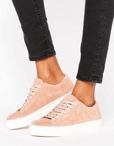 Замшевые кроссовки Selected Femme Donna - Розовый