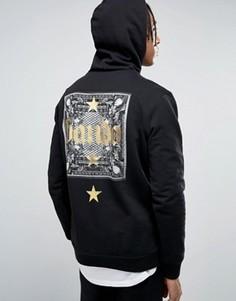 Худи с золотистой звездой на спине Bando - Черный