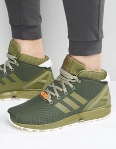 Зеленые кроссовки adidas Originals ZX Flux 5/8 S79742 - Зеленый