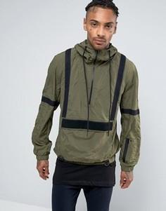 Куртка через голову с тканой отделкой Religion - Зеленый