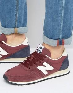 Бордовые кроссовки в стиле 70-х New Balance Running 420 U420RBN - Красный