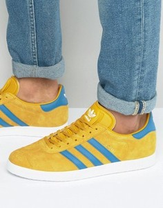 Желтые кроссовки adidas Originals Gazelle BB5258 - Желтый