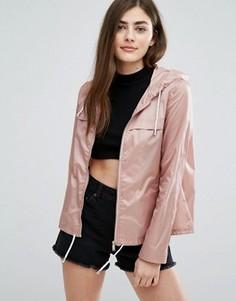 Куртка-дождевик на молнии New Look - Розовый
