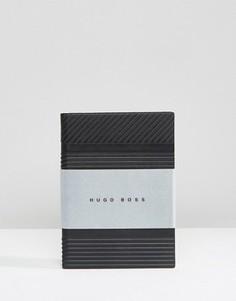 Черный блокнот формата A6 BOSS By Hugo Boss Trilogy - Черный