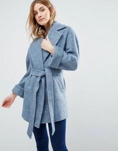 Пальто с поясом Helene Berman Yummy - Синий